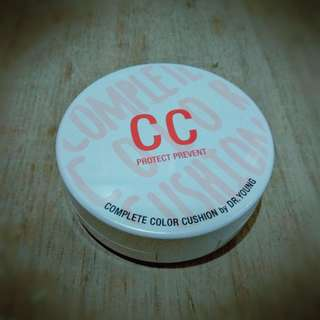 Dr. Young CC Cushion SPF 50 PA+++ Korea Shade Light hasil ngeblend Natural