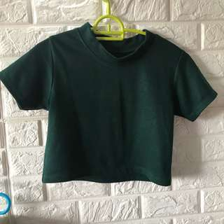 Forest Green Crop Top [BUY 2 20%OFF]