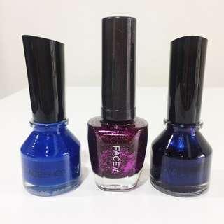 The Face Shop nail polish bundle