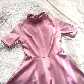 Pink Turtleneck Dress