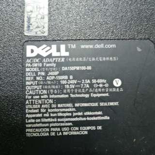 Original Dell 150W power charger for compatible laptops Model: DA150PM100-00 DELL P/N J408P