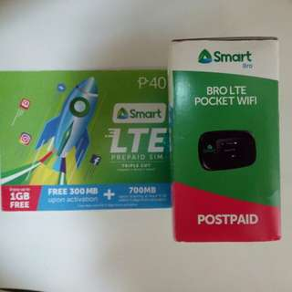 [NEW] Smart Bro Mobile Wifi LTE with SIM card