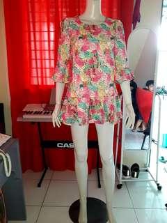 Floral mini dress (a)