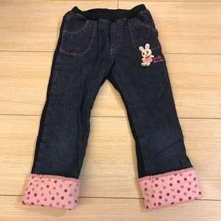日本品牌 Mikihouse 薄長褲 110公分