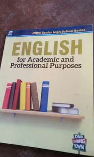 English for Academic and professional purposes (senior high school)