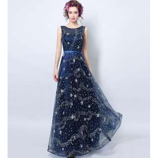 Gown Collection - Starry Starry Night Sleeveless Gown