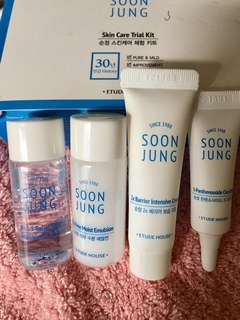 Etude House Soon Jung line Cica Trial set