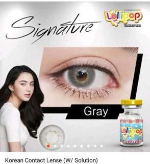Korean contact Lense w/solution (assorted gray)