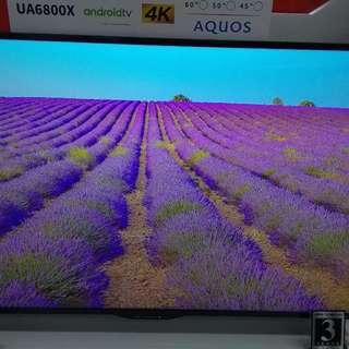 Sharp Android TV 4K LC-50UA6800X Cukup DP + Free 1X Cicilan Tanpa CC