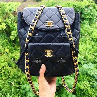 (SOLD)Chanel 黑色羊皮 Duma Backpack 背囊