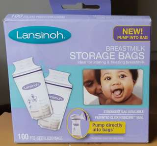 🚚 Lansinoh Breastmilk Storage Bag 6oz, 25 pcs
