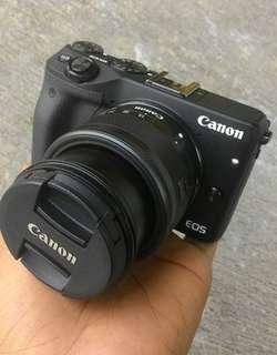 Bisa Kredit Tanpa Cc Canon EOS M3 Kit EF-M 18-55mm White