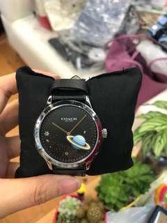 Coach W1555 星球黑色皮錶(新)