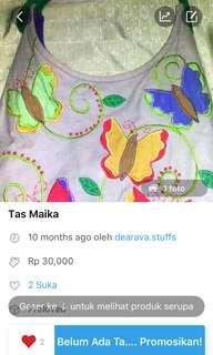 Turun harga tas Maika