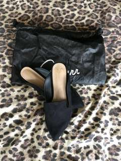 Black Loafer Mule Flats (could fit size 8 AU)