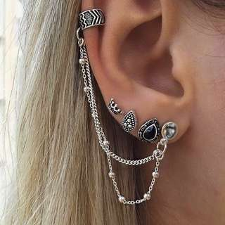 4pcs Bohemian Retro Drop Earrings