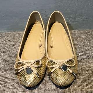Parisian Gold Ballet Flats