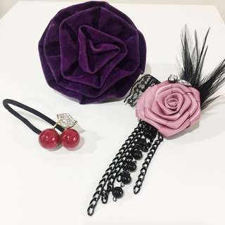 Hair accessory/brooch bundle