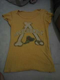 Abercrombie Stretchy yellow shirt