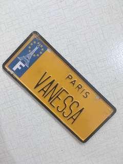 Vanessa Name Plate