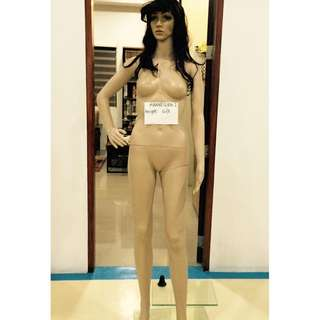 6ft Tall Girl Mannequin with Long Dark Hair