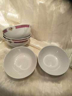 5pc of vintage porcelain  Big bowl x10 =$50