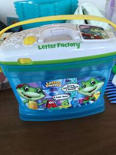 Leap frog letter factory used all intact and working well