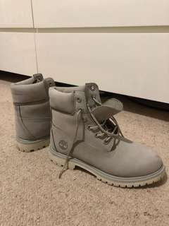 Grey/White Timberland Boots