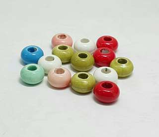 32pcs Randomly Mixed Ceramic Beads