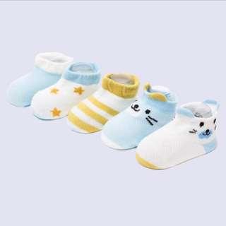 Sky Blue Group Baby Socks 5 Pairs of Cartoon Mesh