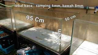 Aquarium kaca budidaya ikan