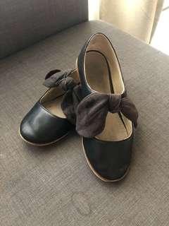 Zara Girls Leather Flat Shoes