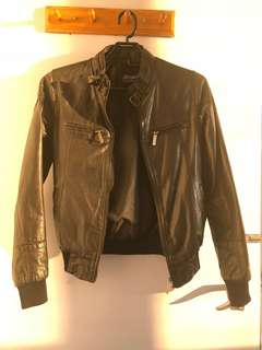 Atmosphere real leather jacket