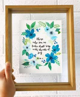 Custom Watercolour florals/ hand calligraphy