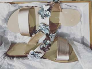 Forever New rose gold sandals