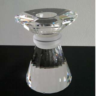 30 Swarovski Silver Crystal - Neo Classical Candle Stand (Medium)