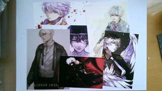 Tokyo Ghoul Art Prints, Button Badges & Charms