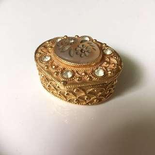 Florenza Vintage Glod Trinket Box