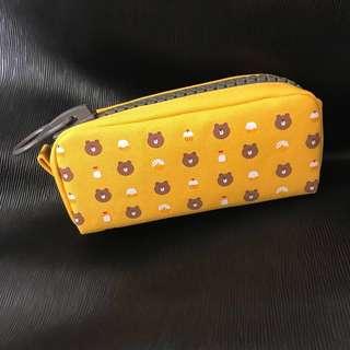 LINE FRIENDS Pencil Case/ Pouch (Yellow) #canvas #zip #sunglasses #makeup