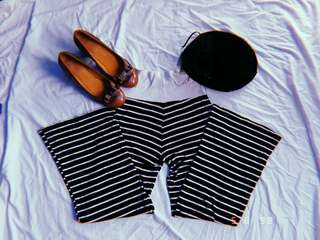 Stripes flowy pants