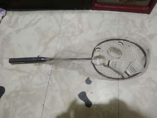 Badminton racket 1 pc only with 4 shuttle cock