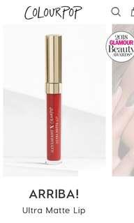 Colourpop arriba liquid lipstick