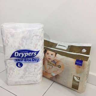 2 Drypers + Free gift!
