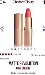 Charlotte tilbury lipstick lost cherry