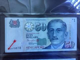 5AA $50 banknote