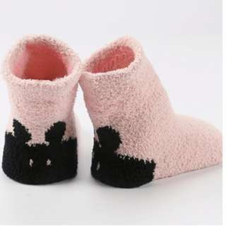 3 Pairs Pink Elf Baby's Winter Sleep Socks (RM 5/pair)