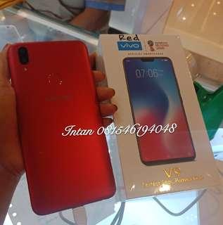Vivo V9 red new bisa kredit murah, tanpa karti kredit. Promo free 1x angsuran