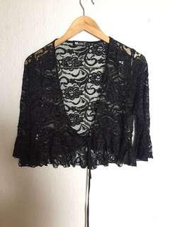Short Black Lace Cardigan Formal