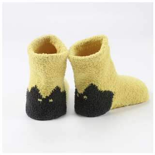 3 Pairs Yellow Baby's Winter Sleep Socks