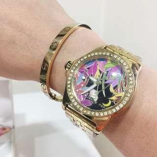 John Kaiser Enamel w/ Swarovski watch